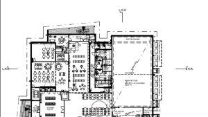 Karta över rumsfördelningen i Svartå skolcentrum