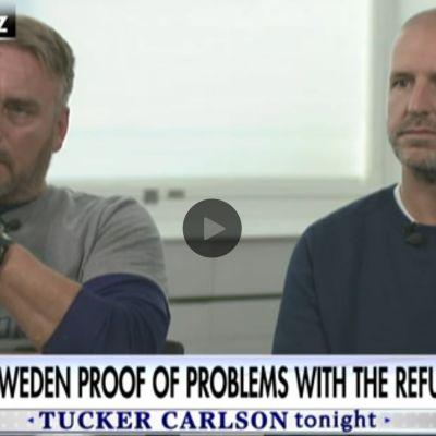 De två poliser som intervjuas i Fox News.
