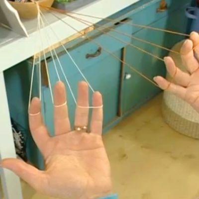 Fläta band med fingrarna
