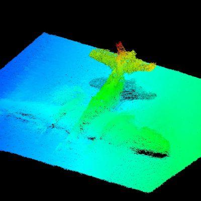 Då havsbottnen undersöktes fann man ett flyplansvrak i gott skick.