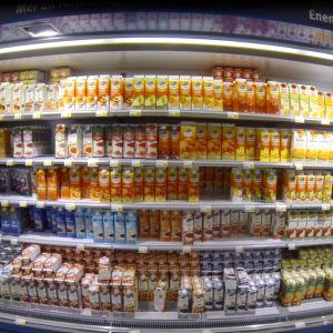 Juice i kall butikshylla
