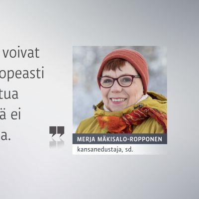 Merja Mäkisalo-Ropponen ja sitaatti: Tilanteet alueilla voivat muuttua hyvin nopeasti ja siksi suunniteltua rokotusjärjestystä ei ole syytä muuttaa.
