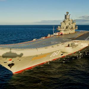 Det ryska hangarfartyget Admiral Kuznetsov.
