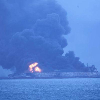 Panamassa rekisteröity Sanchi-tankkeri 7. tammikuuta.