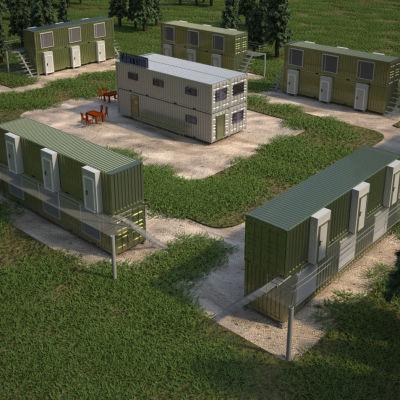 Så här kunde ett containerbostasområde se ut.