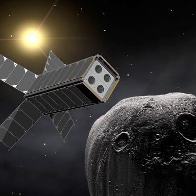Illustration av Aalto-1 satelliten
