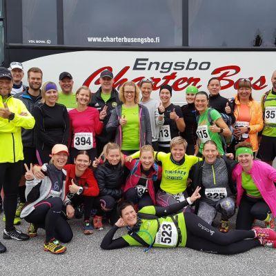Alla deltagare i Team MyMax kom i mål i Höga Kusten Trail.