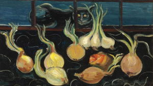 Boris Grigoriev: Still Life with Cat and Onions