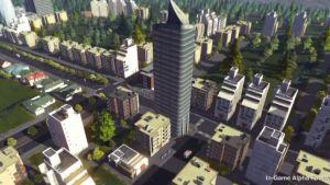 Skärmdump på Cities: Skylines, det nya spelet av Colossal Order.