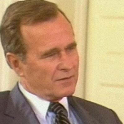 George H. W. Bush haastattelussa 1983.