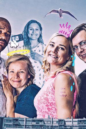 Kuvassa: Abdi (Matti Leino), Ellu (Anna-Riikka Rajanen), Janika (Pilvi Hämäläinen) ja Marko (Jussi Puhakka).