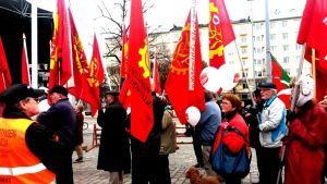 Hagnäs Torg i Helsingfors, SDP, arbetarrörelsens dag