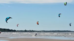 Kitesurfare på Storsand
