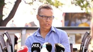 Alexander Stubb höll presskonferens i Esbo på Onsdagen
