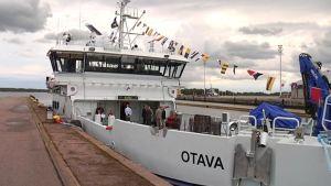 Förbindelsefartyget Otava i Kotka