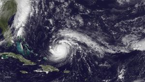 Orkanen Gonzalo fångades på en satellitbild den 17 oktober 2014.