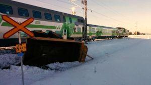 Bild på tågolyckan i Kumo.