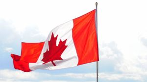 Kanadas flagga.