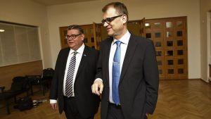 Timo Soini och Juha Sipilä.