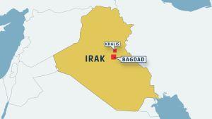 Karta över Irak.