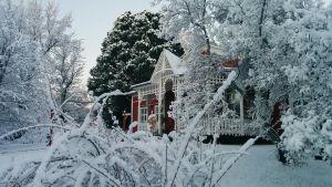 Strömsö-villan i vinterskrudd