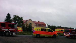 En person omkom i småhusbrand i Ulvsby
