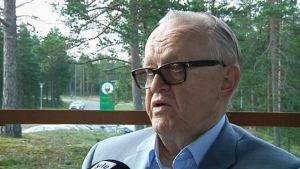 President Martti Ahtisaari i Uleåborg den 29 juli 2015.