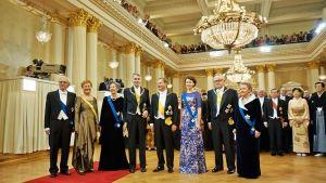 Linnan juhlat 2012. Presidentit puolisoineen.