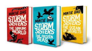 Tre böcker i en bokserie skriven av Mintie Das