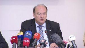 Bayerns polischef Hubertus Andrä vid presskonferensen den 23 juli 2016 om attacken i München.