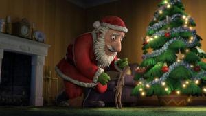 Olli Oksamies tapaa joulupukin