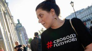 Navalnyj-anhängaren Irina Fatjanova.