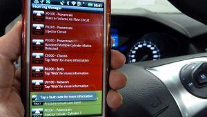 Felkodsläsare på en smarttelefon.