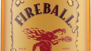 Whiskeylikören Fireball.