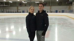 Nya isdansparet Juulia Turkkila och Matthias Versluis, april 2016