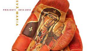 Jouko Ollikaisen Itkevä Maria maalaus nyrkkeilyhanskoissa