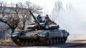 Debaltseve, Ukraina 13 februari 2015.