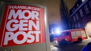 Attentat mot tidningen Hamburger Morgenpost den 11 januari 2015.