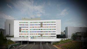 Skiss av T3-sjukhuset i Åbo.