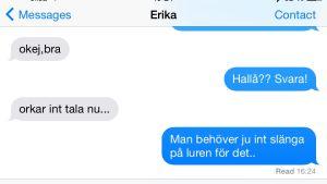 Erikas meddelande