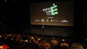 Bild ur filmsal under öppningsdagen av Espoo Ciné 2018.