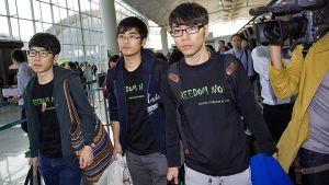 Ledarna för demokratiaktivisterna i Hongkong tilläts inte att resa till Kina.