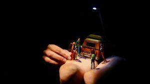 Scen ur föreställningen Invisible lands.
