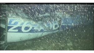 Olycksplanet av typen Piper Malibu ligger på havsbottnen i Engelska kanalen