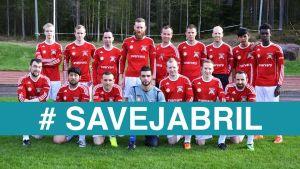 Munsala United har startat kampanjen #SaveJabril. Här en lagbild.
