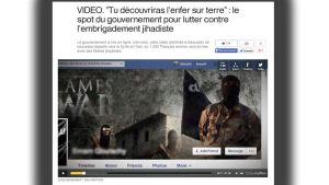 Den franska regeringen publicerade en anti-jihadistvideo, för att förhindra radikalisering bland landets unga.