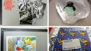 tullens beslag på droger beställda via nätverket Tor