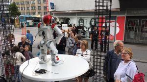 Robot på Finlandsarenan.