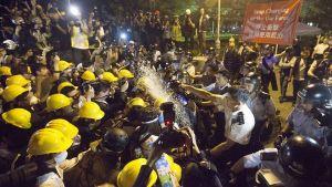 Krav på demokrati i Hongkong