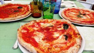 Pizzor i Italien.